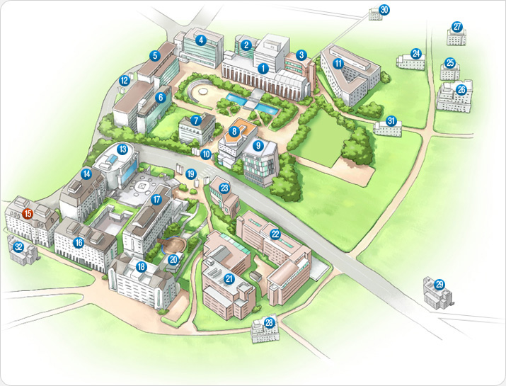 #18 on map is Centennial Hall.